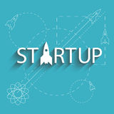 Startup success new project company, plan of development business Stock Image