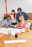 Startup team discussing project. Plan in meeting Royalty Free Stock Images