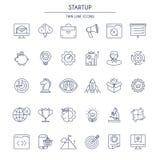 Startup thin line Icons Set Stock Photos