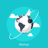 Startup. Vector illustration of startup flat design concept Stock Photography