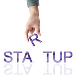 Startup word Royalty Free Stock Photos