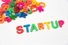 Startup word Stock Photos