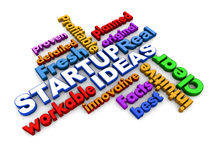 Startup words Stock Photography