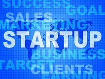 Startup Words Means Self Employed And Entrepreneur Stock Photography