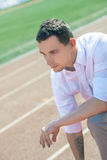 Startup. A young businessman in the early career Royalty Free Stock Images