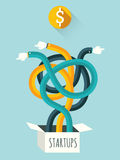 Startups. Concept of startups. Vector illustration Stock Photos
