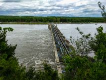 Starved Rock Lock And Dam Stock Photo