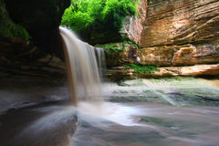 Starved Rock State Park - Illinois. Lasalle Falls cuts through a canyon at Starved Rock State Park in central Illinois Stock Photos