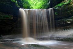 Starved Rock State Park Landscape Illinois. Spring rains create a beautiful scene at Lasalle Falls of Starved Rock State Park in central Illinois stock photos