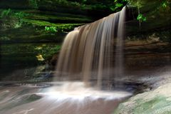 Starved Rock State Park. Lasalle Falls cuts through a canyon at Starved Rock State Park in central Illinois Stock Photography