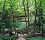 Starved rock trail. Trail through the starved rock canyon Stock Photo