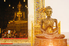 Starving Buddha statue Stock Image