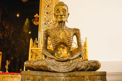 Starving Buddha statue Royalty Free Stock Image