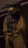 Starwars Exhibit Jabba's Guard Disguise. Star wars exhibit on Seattle's EMP Museum featuring original costumes from the revered movie series Royalty Free Stock Image