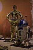 Starwarstentoongesteld voorwerp C3PO & R2D2 Stock Afbeeldingen