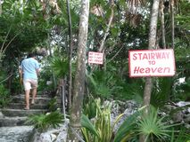 Stairway to Heaven in Cozumel stock images