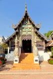 纳卡语starway在Wat Chedi Luang,清迈 免版税库存图片