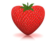 Starwberry heart Royalty Free Stock Photos