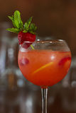 Starwberry sangria Stock Images