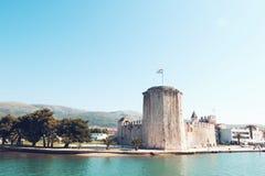 Stary średniowieczny forteca Trogir Kamerlengo kasztel obraz royalty free