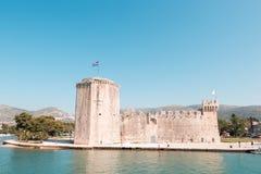 Stary średniowieczny forteca Trogir Kamerlengo kasztel obraz stock