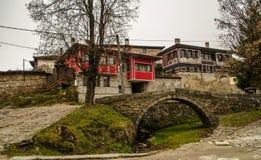 Stary Тraditional bulgarian dom w Koprivshtica, Bułgaria zdjęcia royalty free