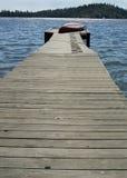 Stary łódkowaty dok zdjęcie royalty free
