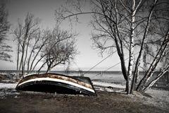 stary łódkowaty połów Zdjęcie Royalty Free