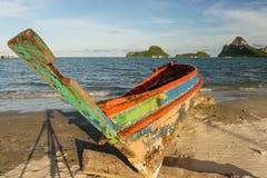 stary łódkowaty połów Zdjęcia Stock