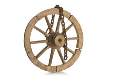 Stary łańcuch i koło Obraz Stock
