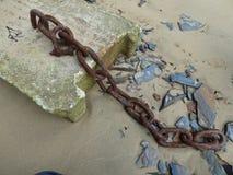 Stary łańcuch rdzewiejący Zdjęcia Royalty Free