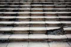 Stary łamający betonowy schody krok obraz royalty free