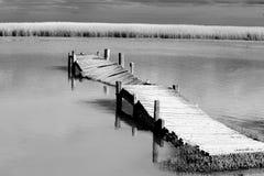 Stary łamający jetty fotografia royalty free