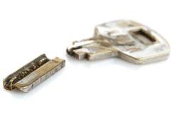 Stary łamający klucz obraz stock