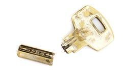 Stary łamający klucz obrazy stock