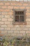 Stary łamający okno Fotografia Royalty Free