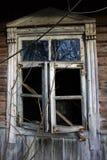 Stary łamający okno Obraz Stock