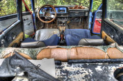 stary łamający samochód dla HDR Zdjęcie Royalty Free