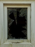 Stary łamający szklany okno budynek Obraz Royalty Free