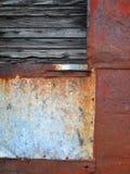 Stary Łatający metalu abstrakt obrazy stock