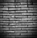 Stary ściana z cegieł black&white Fotografia Stock