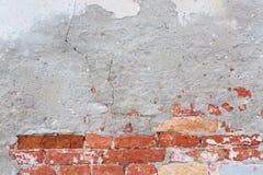 Stary ściana z cegieł z cementową teksturą abstrakcyjny tło Fotografia Royalty Free