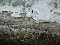 Stary ściana z cegieł czerni bielu tło Fotografia Stock