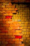 Stary ściana z cegieł jest tłem Zdjęcie Stock