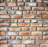 Stary ściana z cegieł, ściana z cegieł tekstura zdjęcie royalty free