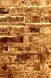 Stary ściana z cegieł tekstury brąz Zdjęcie Royalty Free