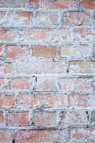 Stary ściana z cegieł w tło wizerunku Zdjęcia Royalty Free
