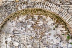 Stary ściana z cegieł z łukiem rocznika styl Fotografia Royalty Free