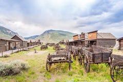 Stary śladu miasteczko w Coda, Wyoming - obrazy stock