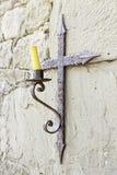 Stary średniowieczny świecznik Obrazy Stock